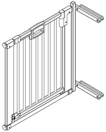 Geuther - Türschutzgitter Easylock, buche natur, 2747 - 2